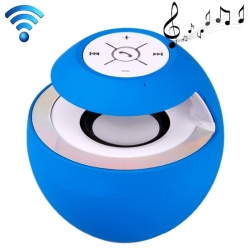 Mini Enceinte Portable Bluetooth LED Haut-Parleur EDR Kit Mains Libres Bleu