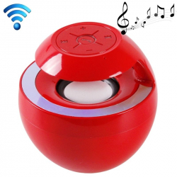 Mini Enceinte Bluetooth Kit Mains-Libres Portable Haut-Parleur Nomade Rouge