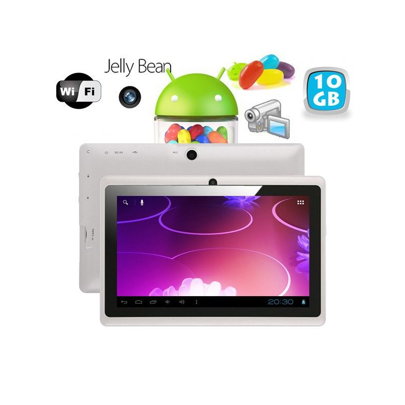 tablette tactile android 4 1 jelly bean 7 pouces capacitif 10 go blanc. Black Bedroom Furniture Sets. Home Design Ideas
