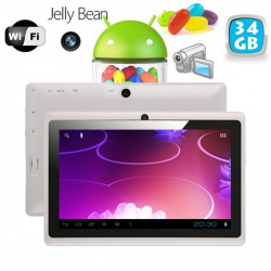 Tablette tactile Android 4.1 Jelly Bean 7 pouces capacitif 40 Go Blanc