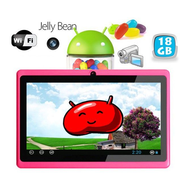 Tablette tactile Android 4.1 Jelly Bean 7 pouces capacitif 24 Go Rose - Tablette tactile 7 pouces - www.yonis-shop.com