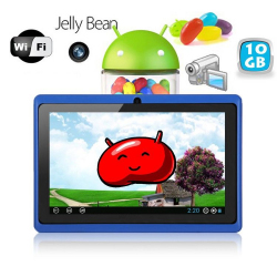 Tablette tactile Android 4.1 Jelly Bean 7 pouces capacitif 10 Go Bleu