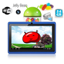 Tablette tactile Android 4.1 Jelly Bean 7 pouces capacitif 34 Go Bleu - Tablette tactile 7 pouces - www.yonis-shop.com