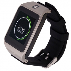 Montre Sport iOS Android Smartwatch Tactile podomètre Bluetooth Argent