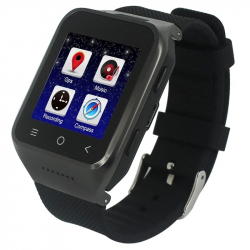Montre Connectée Android KitKat 512 MB + 4 GB CPU Dual Core 1.2 GHz WiFi Bluetooth GPS 3G Noir