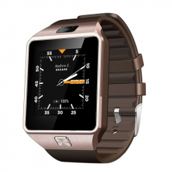 Smart Watch Android Montre Tactile WiFi GPS SIM Bluetooth Caméra Or