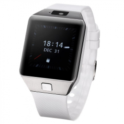 Smart Watch Android Montre Tactile WiFi SIM Caméra Bluetooth GPS Blanc