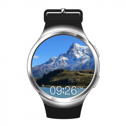 Montre Connectée Android 5.1 Smartwatch Cardio SIM Quad Core Argent