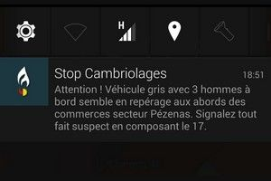 Application stop cambriolages
