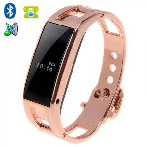 montre connectee bluetooth iphone android oled appel sms podometre or