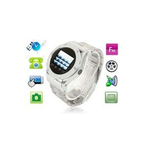 montre telephone camera photo lecteur mp3 usb micro sd argent