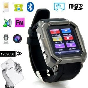 montre telephone connecte bluetooth lecteur mp3 mp4- martwatch noir