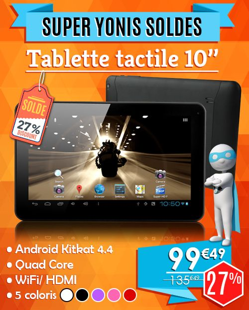 tablette tactile android 10 pouces