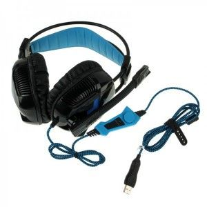 Casque micro PC gaming microphone ajustable USB noir