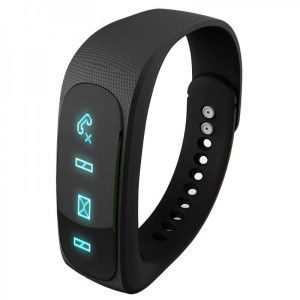 Bracelet intelligent Bluetooth sport montre connectée podomètre noir
