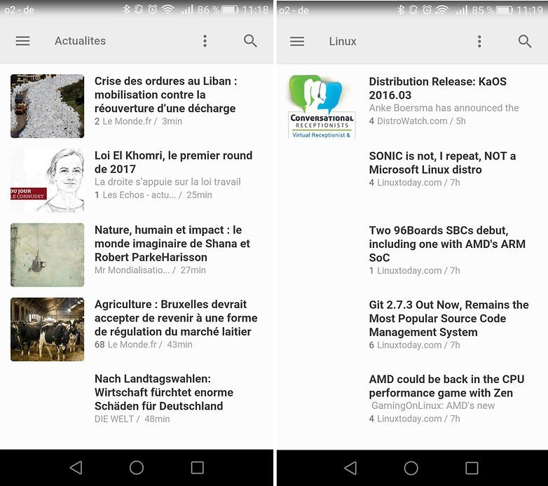 feedly, l'application multimédia qui permet de suivre l'actualité sur Tablette tactile Android