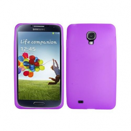 Housse-Samsung-Galaxy-S4-I9500-coque-silicone-Violet-5-pouces